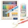 36 цветов/набор  маркеры для рисования акварелью  ручка с двойным наконечником  водные маркеры  канцелярские принадлежности  школьные товары...