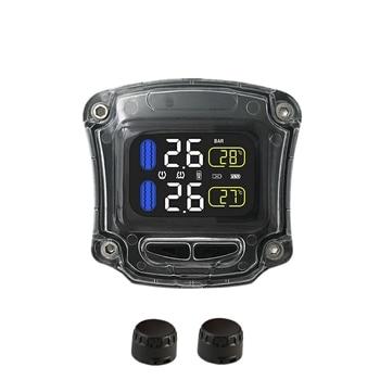 Careud Universal M3-B Drahtlose Wasserdichte Motorrad Echtzeit Tpms 2 Externa Tire Pressure Monitoring System Sensor