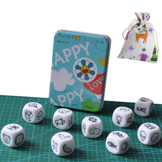 Diciendo historia 9 piezas dados rompecabezas juego de fiesta/amigos/familia padres niños interactivo regalo juguetes de Montessori boad juego