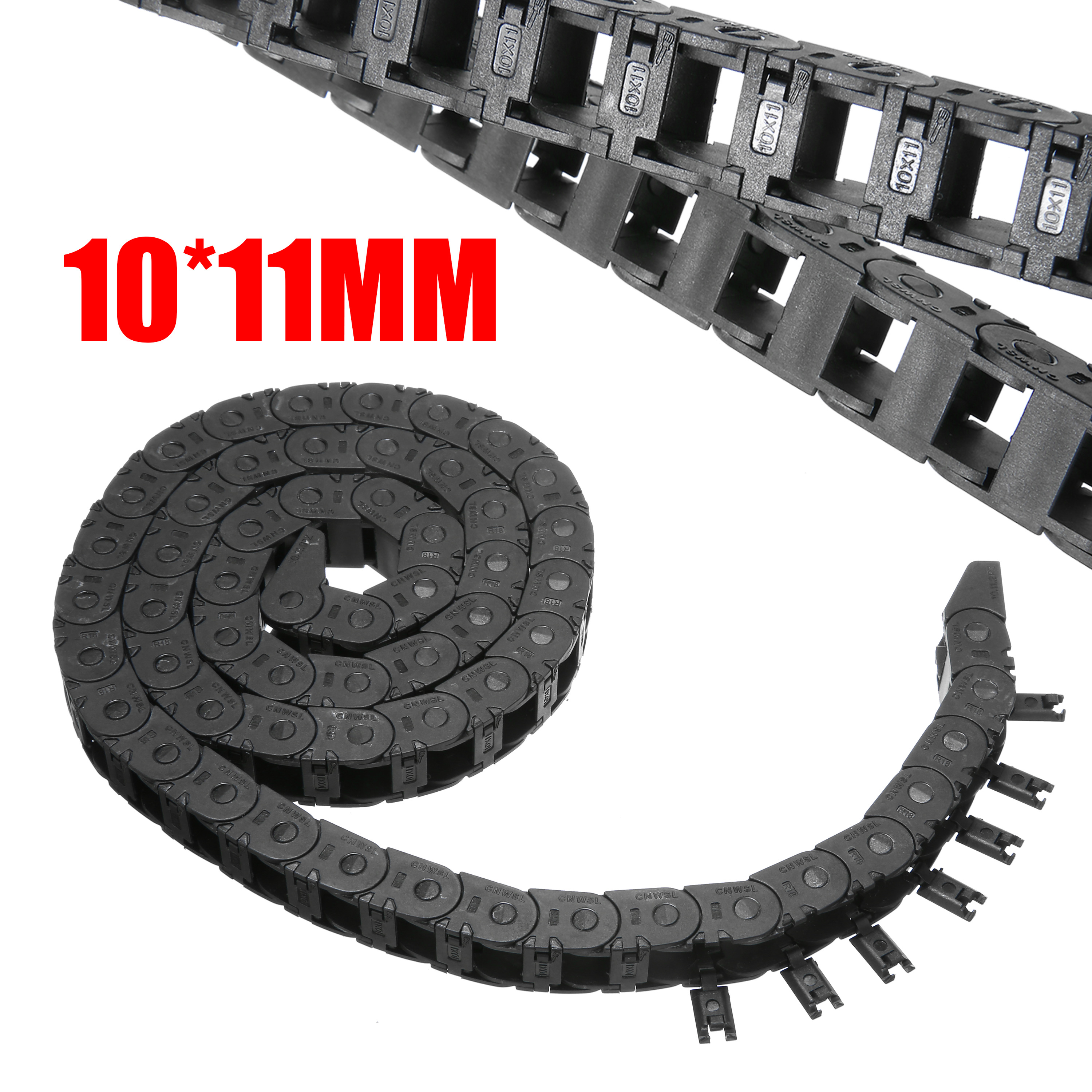 1Meter 7x7 10x10 10x20mm Nylon Chain Drag Cable Wire Carrier For CNC 3D Printer