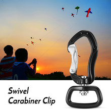 Swivel Carabiner Clip 360° Rotatable Spinner Carabiner Small Wire-gate Carabiner Rotational Hammock Hanging Clip Hook Key Ring(China)