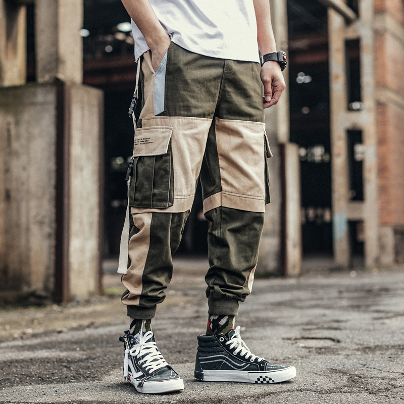 Men 39 s Trousers 2019 Summer New Loose Multi pocket Overalls Men 39 s Nine Pants Trousers Personality Youth Casual Men 39 s Clothing in Cargo Pants from Men 39 s Clothing