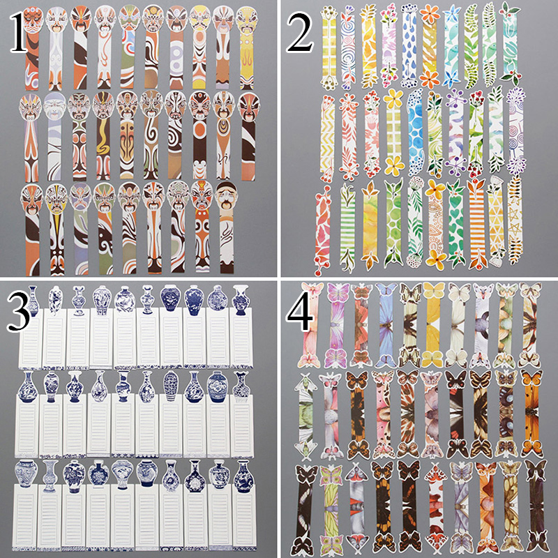 30pcs/pack 1 Bag Cute Butterfly Book Marks Novelty Items Funny Paper Bookmarks For Books Girl Gifts School Office Supplies