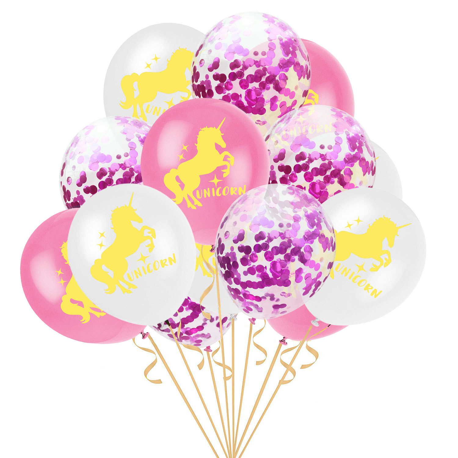15pc12inch Unicorn Party Birthday Mermaid Party Decorations Latex Confetti Balloon Kids Mermaid Birthday Decorartion Baby Shower in Party DIY Decorations from Home Garden