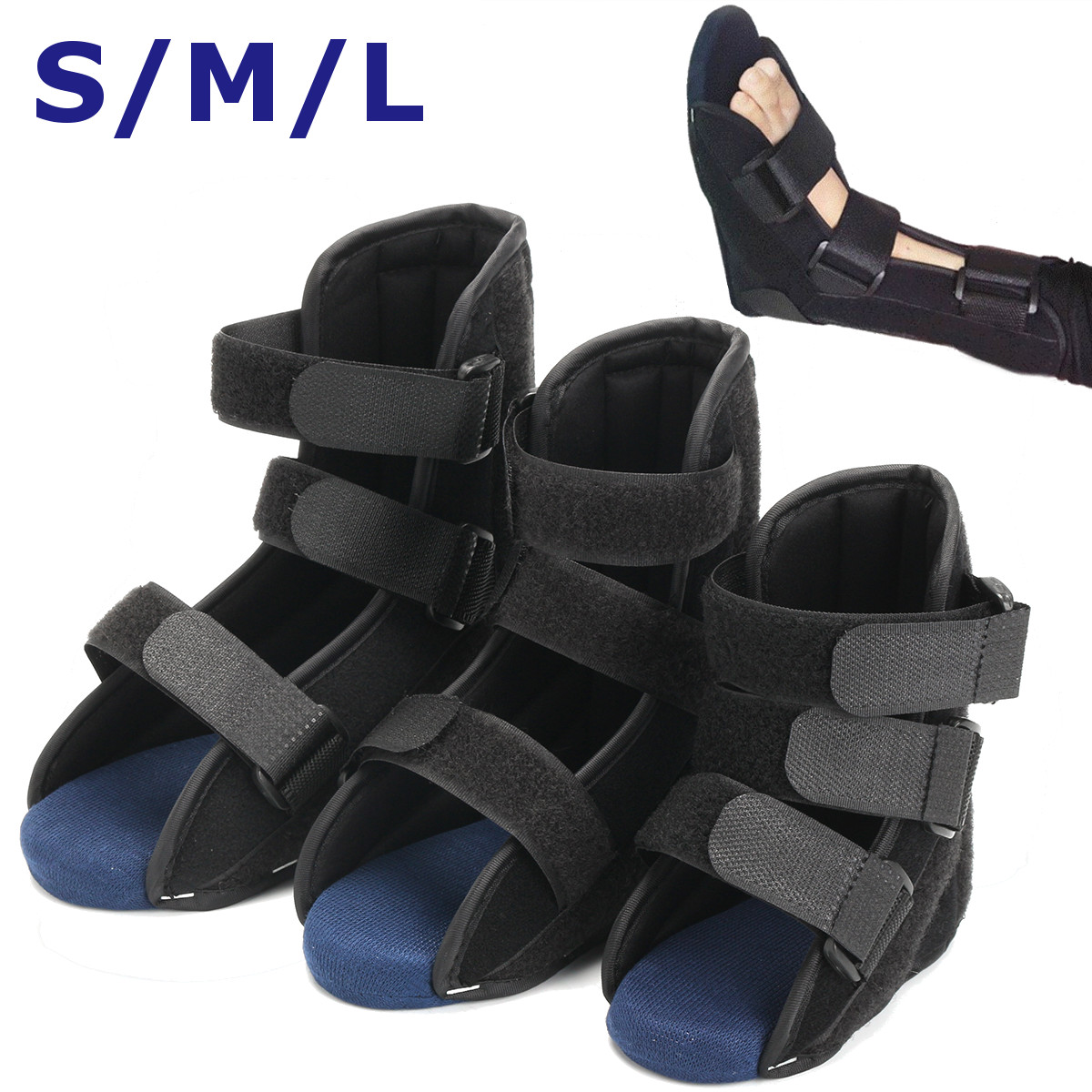 S/M/L Kids Ankle Brace Support Splint Foot Orthosis Drop Guard Sprain Orthosis Fractures Ankle Braces For First Aid Plantar