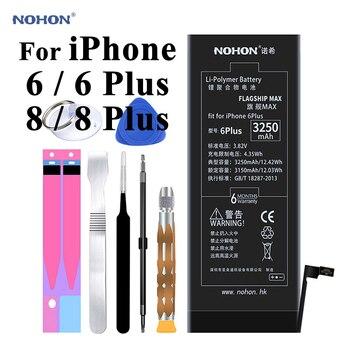 מקורי Nohon סוללה עבור iPhone 6 8 בתוספת 6 בתוספת 6P 8 P 1810 mAh-3360 mAh סוללות + כלים עבור Apple iPhone 6 8 בתוספת 6P 8 P סוללה