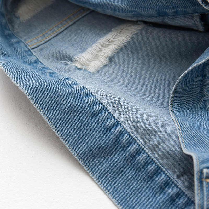 Autunno Uomini del Rivestimento Della Chiusura Lampo Del Denim della Tasca di Colore Blu Abbigliamento Per Uomo Casual Pilota Giacca 2018 Maschio del Cappotto di Usura 340