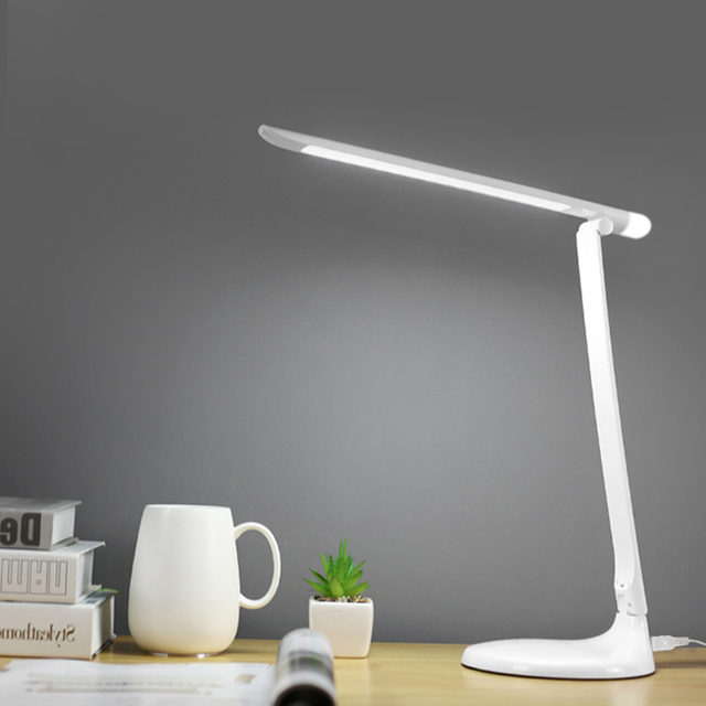 48pcs LED Desk Lamp with Night Light Touch Switch Foldable Eye Care Office Natural Light USB Plug in DC5V Dimmer Led Table Lamps