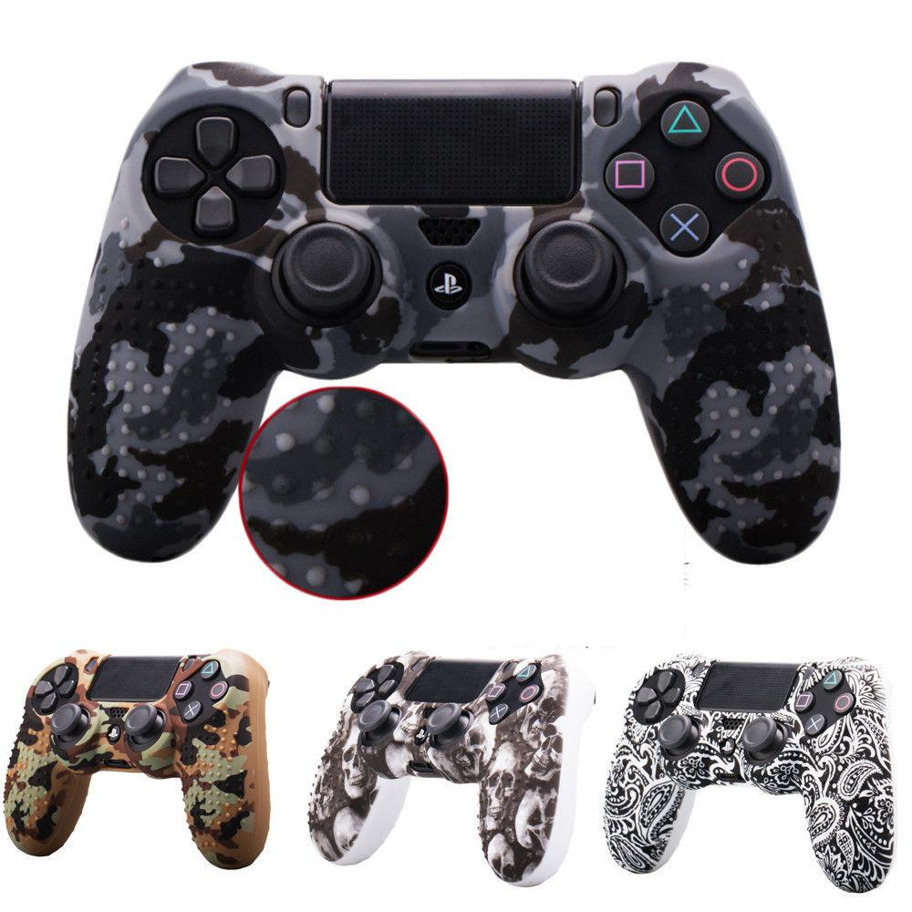EastVita Camouflage Anti-slip Silicone Cover Skin Case For Sony PlayStation 4 Dualshock 4 PS4 DS4 Pro Slim Controller