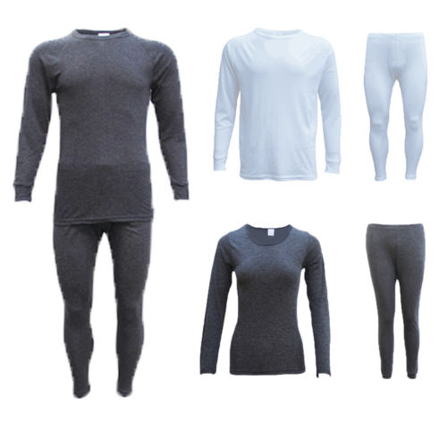 2pcs Men Women Autumn Winter Warm Thick Thermal Underwear Sets