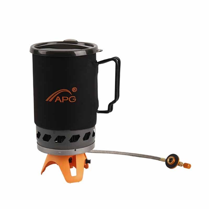 Pot et bol de four à gaz externe Apg à deux utilisateurs collecteur coupe-vent 1400 Ml