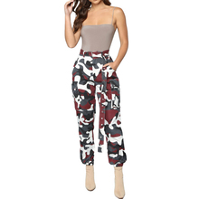 Лучший!  YJSFG HOUSE Женские брюки-карандаш с завышенной талией Эластичные длинные брюки Женские камуфляжные  Луч�
