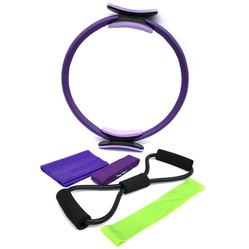 5pcs/set Pilates Ring Slimming Circle Latex Stretch Band Yoga Stretch Strap Rubber Loop Resistance Band Gym Fitness Equipment Beneficial To The Sperm Fitness & Body Building Fitness Equipments