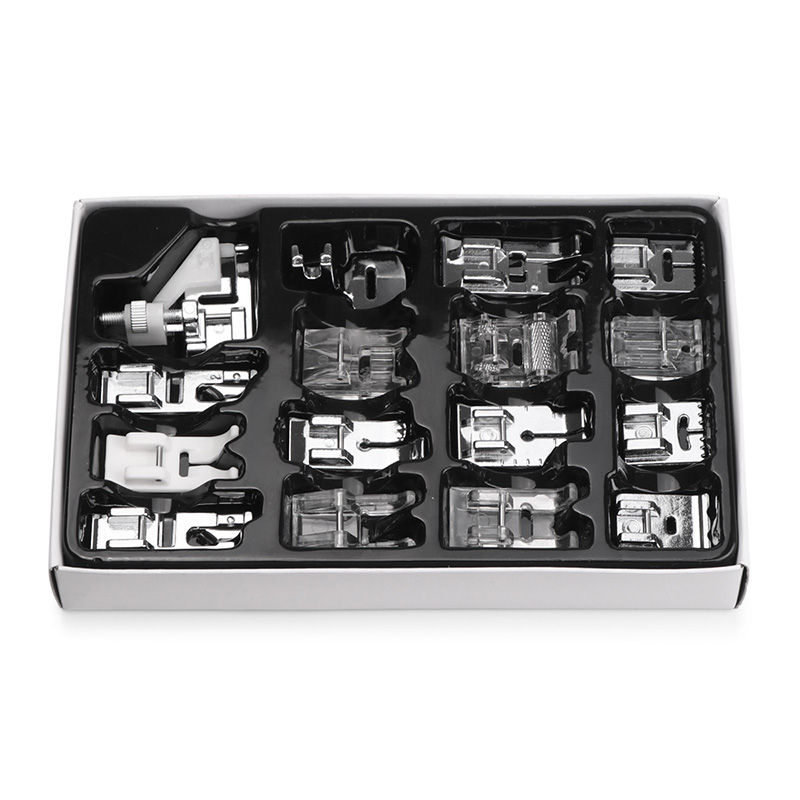 16pcs Sewing Machine Presser Foot Feet Kit Set With Box Brother Singer Janom Sewing Machines Foot Tools Accessory Sewing Tool 6