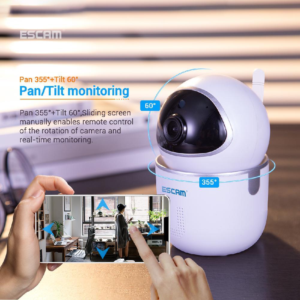 EastVita ESCAM QF009 1080 P 2MP panoramique/inclinaison WiFi intérieur IP caméras de Surveillance IR CCTV nuit moniteur vidéo Mini caméra