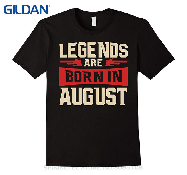 59a2398a T Shirt Men Tees Brand Clothing Funny Legends Are Born In August T-shirt - Birthday  Tshirt