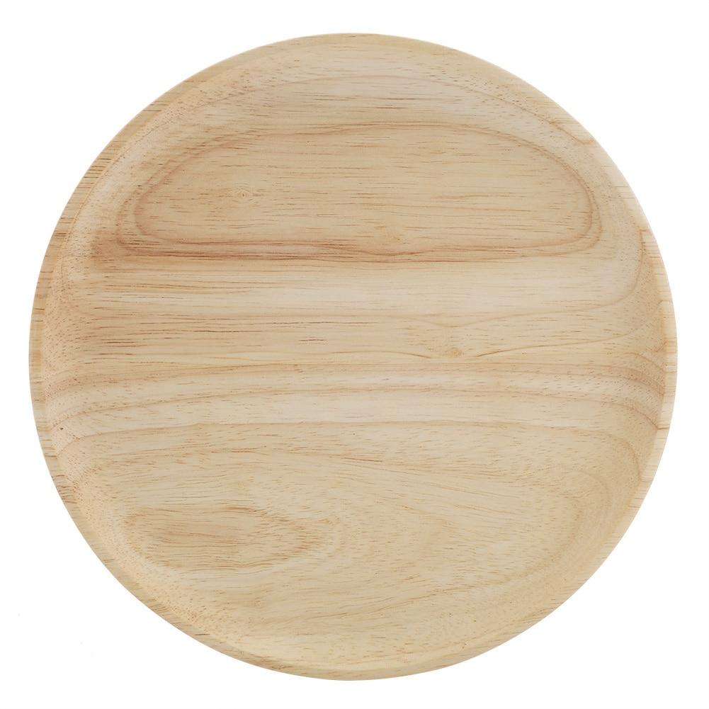 tea table Elegant Round Wood Tea Tray Sushi Snacks Fruits Serving Plate Dish for Home Restaurant green tea.