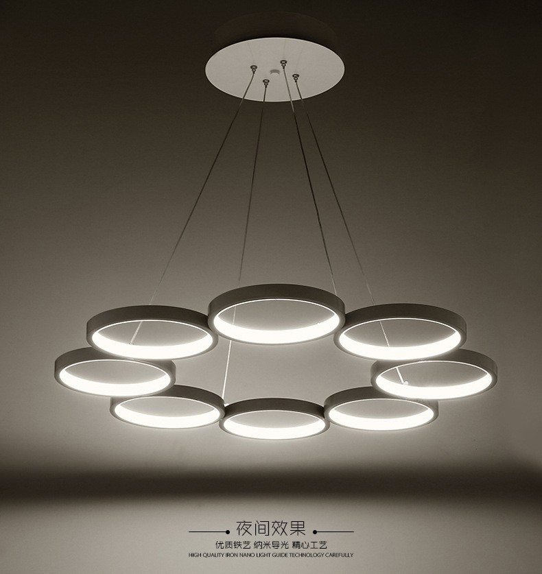 Modern Led Chandeliers Led Lamps Living Room 6 / 8 Ring Lamps Led Chandelier High power 2835 Led Lustre Lighting Chandeliers|Chandeliers| |  - title=