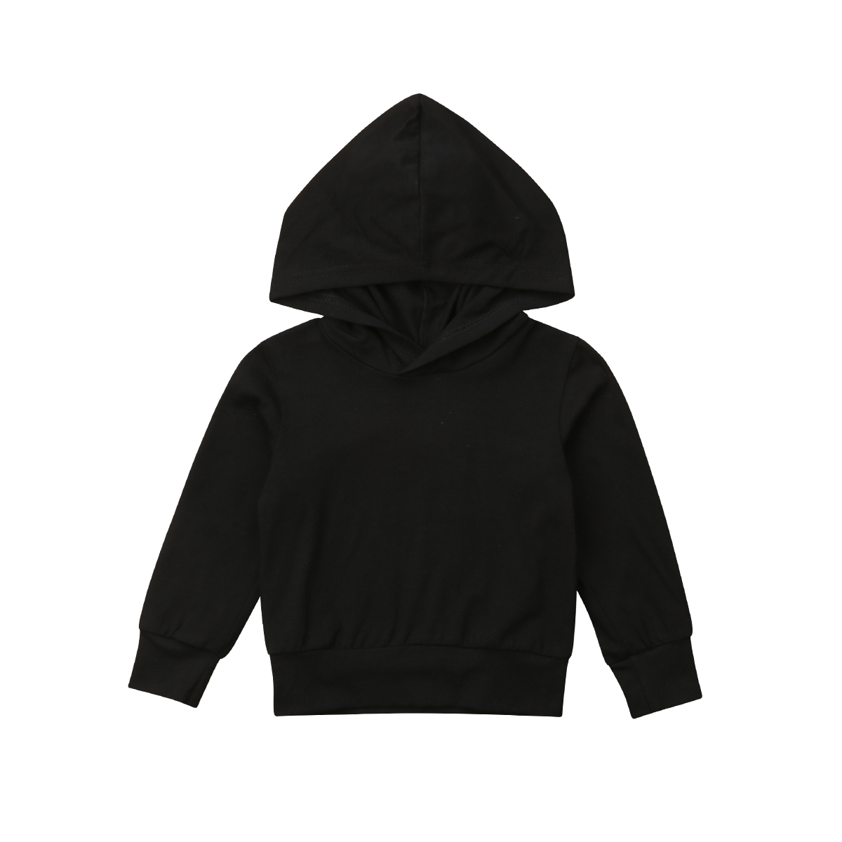 2018 Herbst Baby Mädchen Jungen Brief Drucken T-shirt Tops Kleinkind Mit Kapuze Schwarz Bluse Sweatshirt Kleidung GüNstigster Preis Von Unserer Website