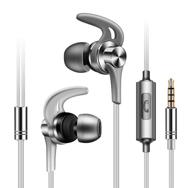 FULL J02 słuchawka douszna z mikro typ 3.5Mm Stereo ciężki bas muzyka słuchawki z redukcją hałasu