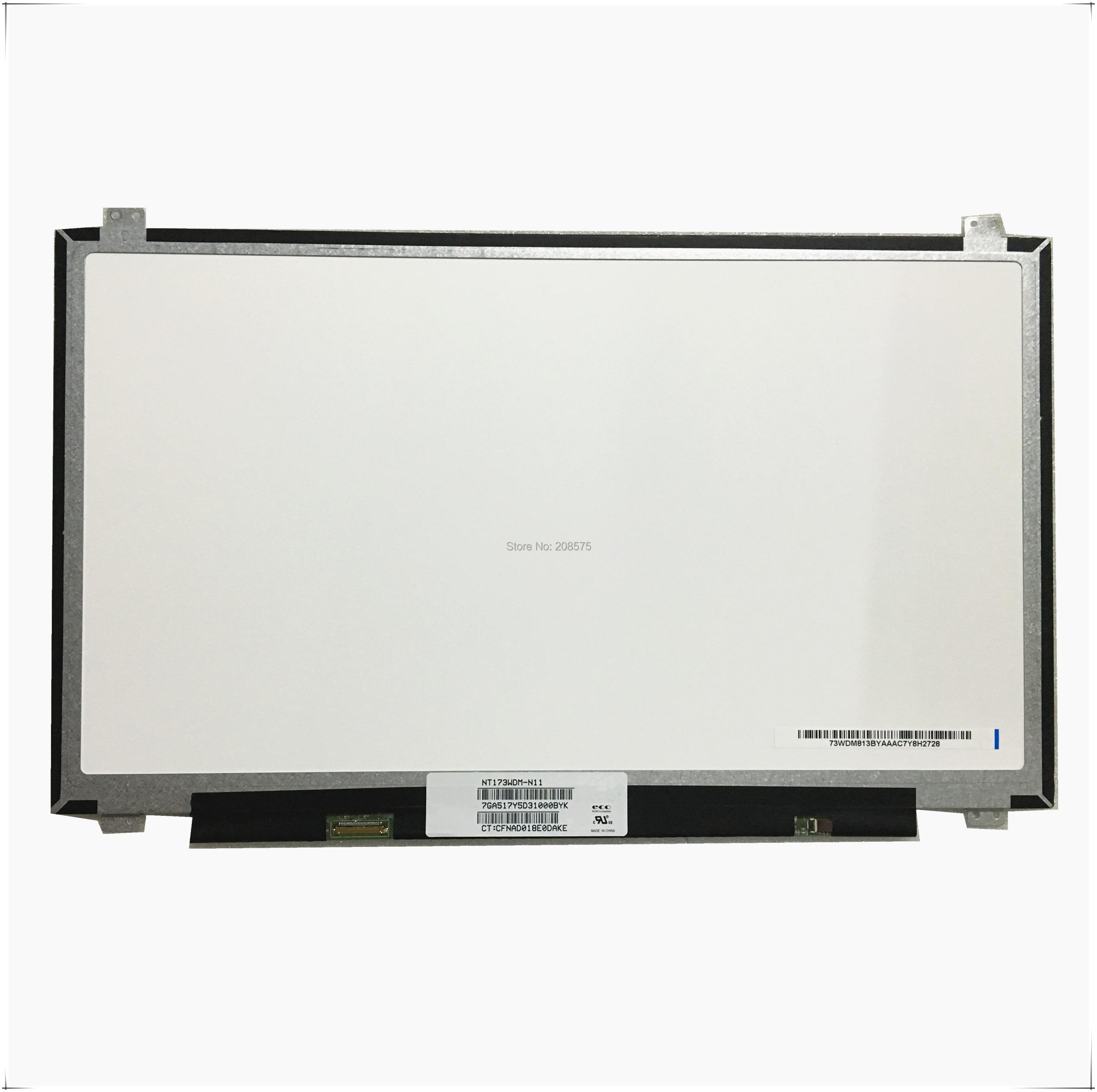 Livraison Gratuite NT173WDM-N11 NT173WDM N11 NT173WDM-N21 B173RTN02.2 B173RTN02 17.3 ''inch Ordinateur Portable LCD écran LED 1600*900 EDP 30pin