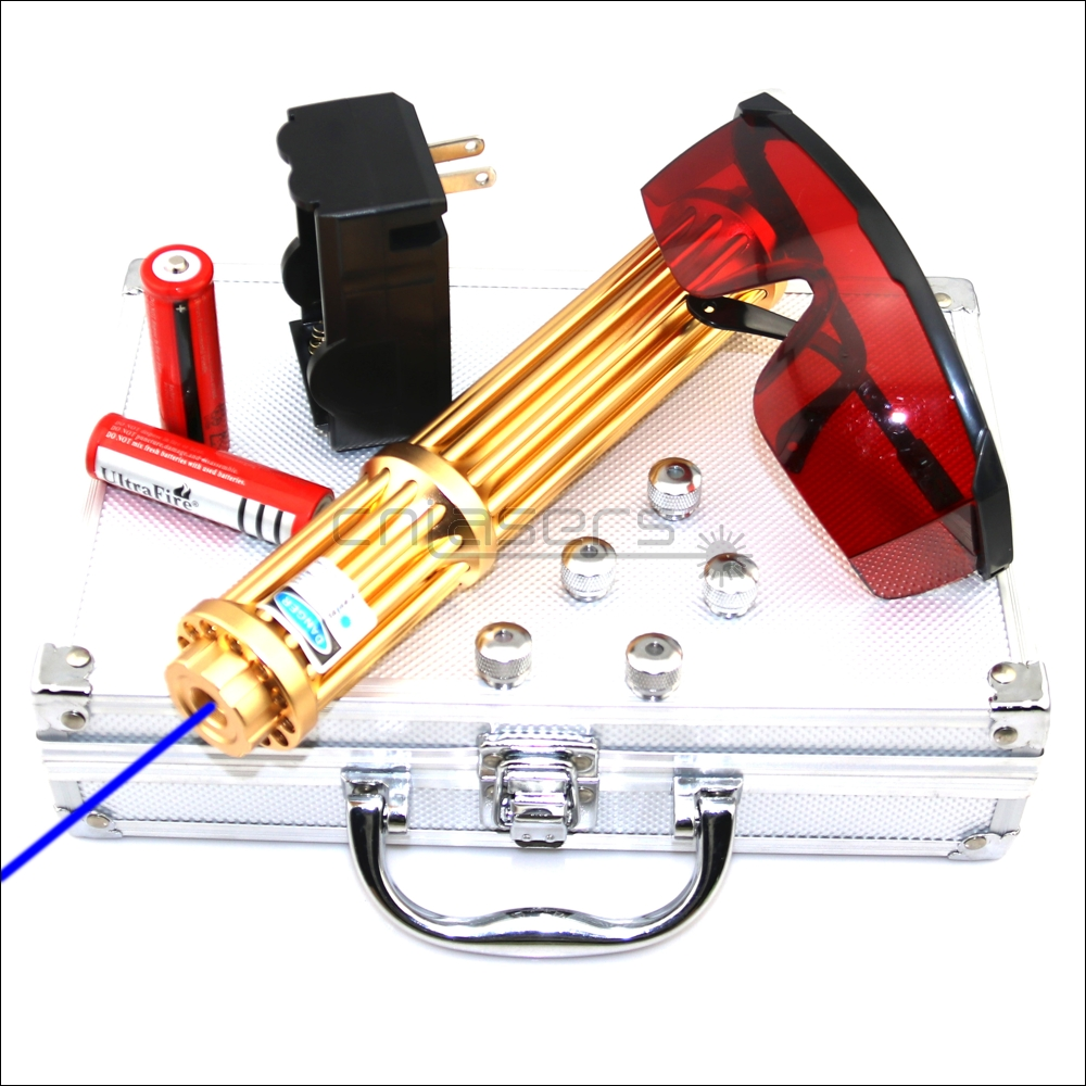 CNILasers X3B1500II Adjustable Focus 450nm BURNING Blue Laser Pointer Lazer Torch Cigarette Lighter Camping Signal Lamp Hunting