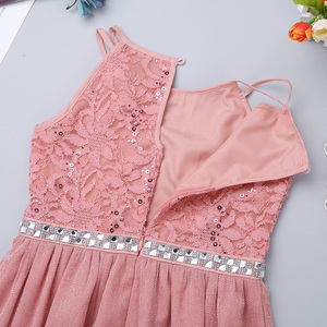 Image 4 - Iiniim adolescente meninas vestido, sem mangas lantejoulas rendas floral vestido brilhante vestido de festa para capina formal da festa de aniversário vestidos de verão