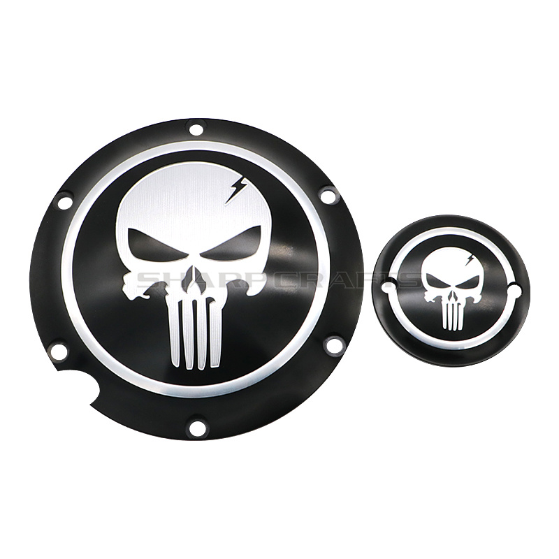 Image 2 - Motorcycle Skull Derby Timer Clutch Timing Covers Master Cylinder Chain Inspection Cover For Harley Sportster Iron XL883 XL1200-in Covers & Ornamental Mouldings from Automobiles & Motorcycles