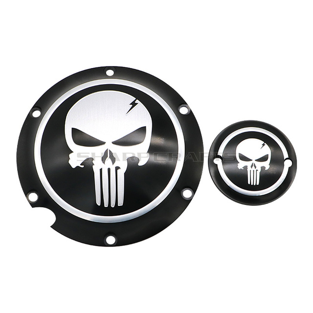 Motorcycle Skull Derby Timer Clutch Timing Covers Master Cylinder Chain Inspection Cover For Harley Sportster Iron XL883 XL1200