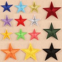 Высокое качество маленькая звезда патчи для одежда из железа на ткани нашивки Вышивка пентаграмма аппликация 1 шт. передача значка для одежды
