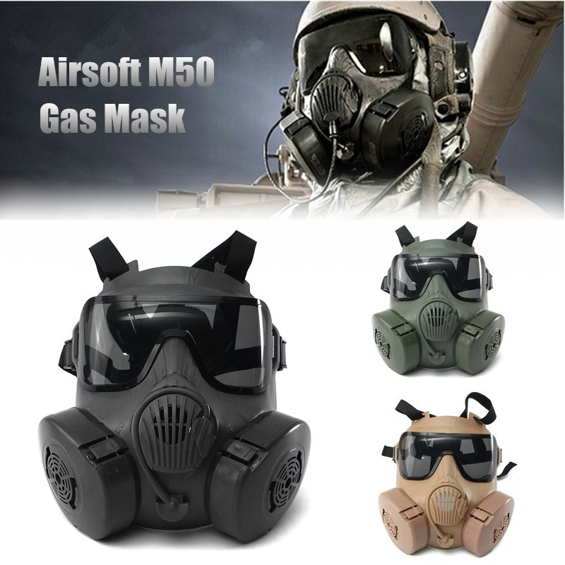 Masque Halloween Durable DC-15 M50 masque crâne intégral CS masque à gaz jeu de guerre tactique cosplay masque de fête sable/vert/noir