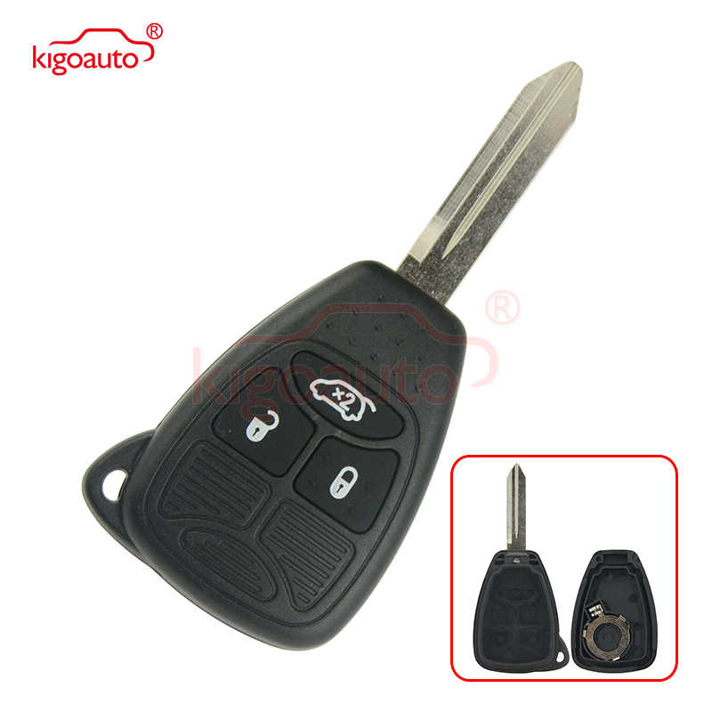 Kigoauto 04589199AC clé à distance coque 3 bouton pour Chrysler Dodge Jeep 2006 2007 2008 2009 2010 2011 2012