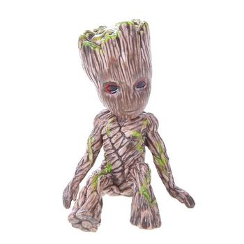 Vinyl Baby Groot Flower Pot and Pen Holder for Indoor Garden Decoration in Living Room and Study Room
