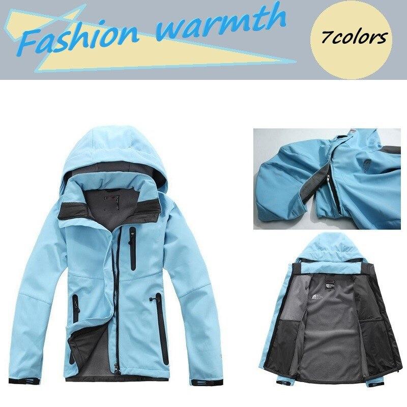 Femmes en plein air printemps automne escalade Camping randonnée softshell veste imperméable coupe-vent thermique coupe-vent femmes manteau chaud
