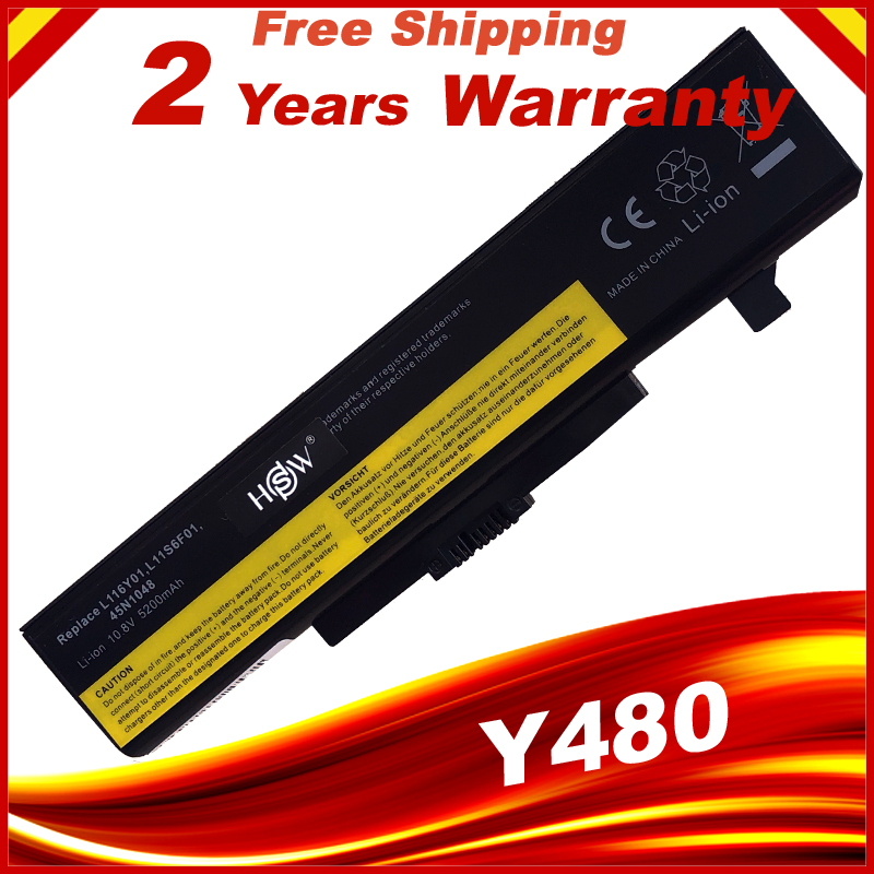 6 Cells Battery For Lenovo IdeaPad Y480 G710 G700 Z580 G480 G585 Y480 Y485 Y580 Z380 Z580 G400 G485 G580 Y480N