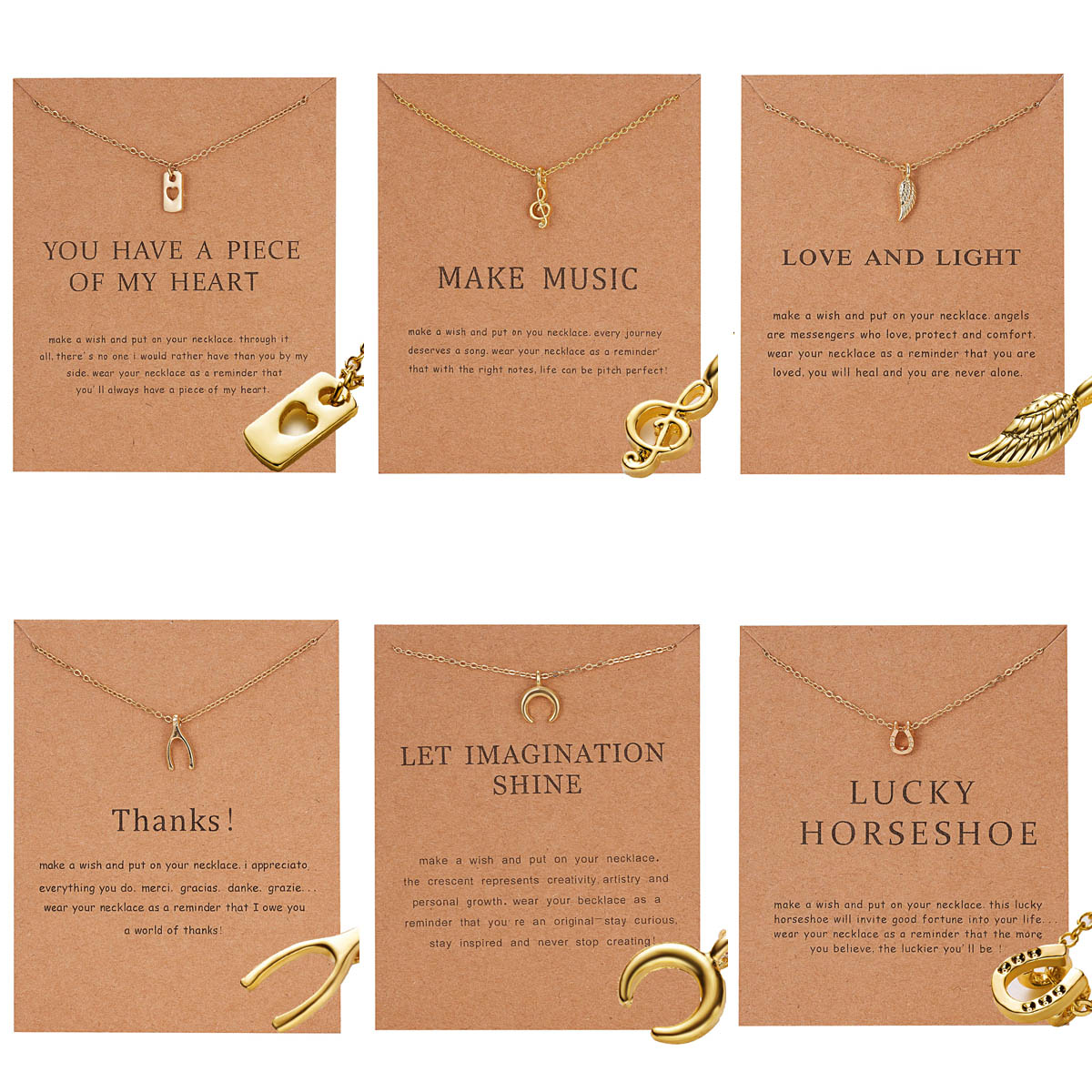 12 Constellation Pendant Necklace Zodiac Sign Necklace Birthday Gifts Message Card for Women Girl image