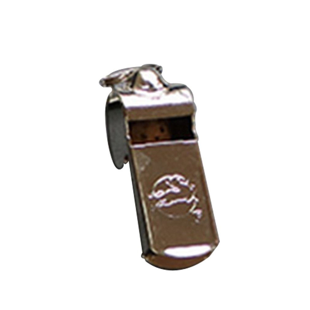 Professional Stainless Steel Whistle Outdoor Survival Whistle Sports Referee Football Rugby Whistle With Neck Wrist Cord