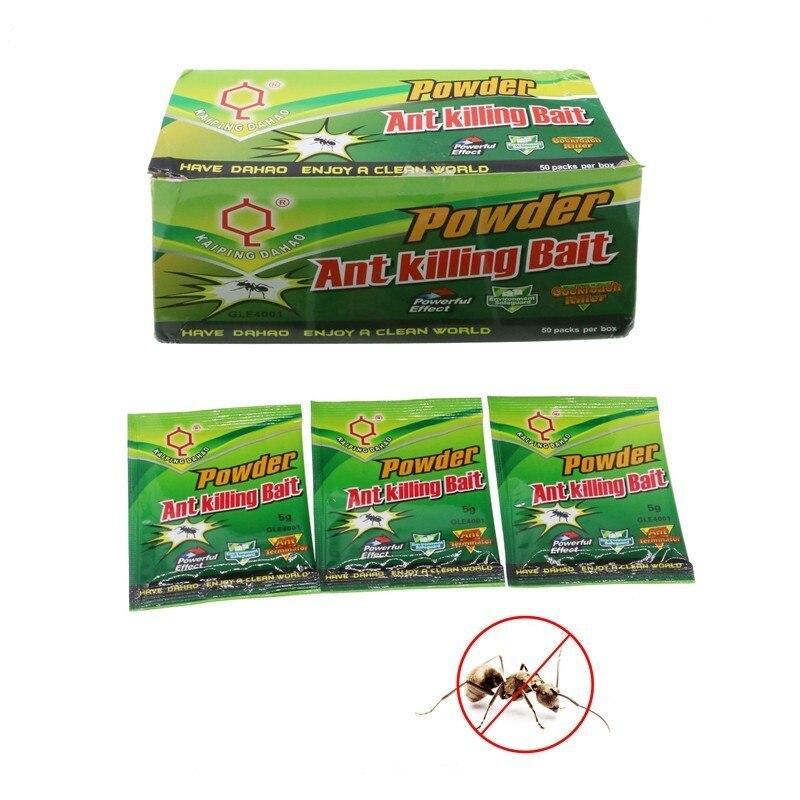 50 упак./лот дахао муравей убивает убивающий порошок яд приманка медицина инсектицид мощный Убийца Муравей специальный эффект