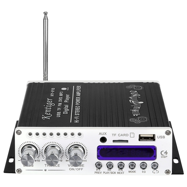 Kentiger V10 Amplifier Bluetooth Hi-Fi Class-Ab Stereo Super Bass Audio Power Amplifiers Car Senior Shielding Built-In Circuit