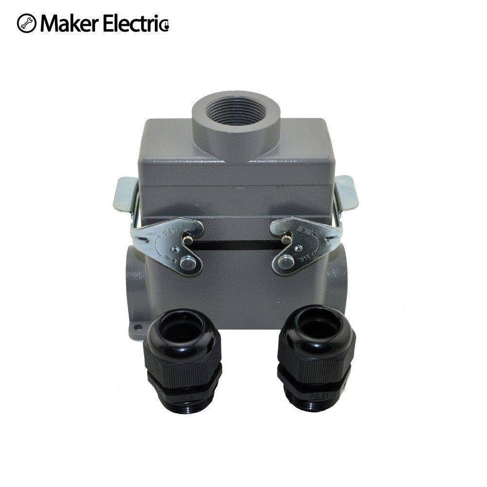 Waterproof cable connector MK HE 016 4 plastic screw industrial heavy duty 400V wire connector Harting heavy duty connector