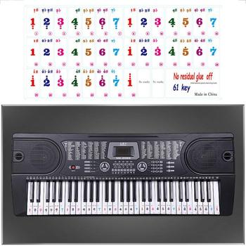 Transparent 49/ 61/ 54 Key Piano Stickers For MIDI Keyboards Removable Keyboard Aticker Transparent For Piano Practice Learning