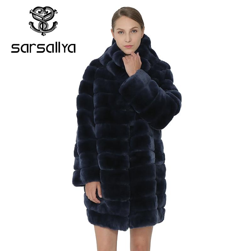 SARSALLYA Echte Bontjas Vrouwen Jas Warme Winter Rex Konijn Hooded Dikke Mode Vrouwen Jassen Real Natuurlijke Bont Vrouwelijke Jas-in Echt Bont van Dames Kleding op  Groep 2