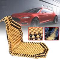 Universal Car Cushion Cover Summer Cool Wood Wooden Bead Seat Cover Massage Cushion Chair Cover Car Auto Office Home 2 Colors