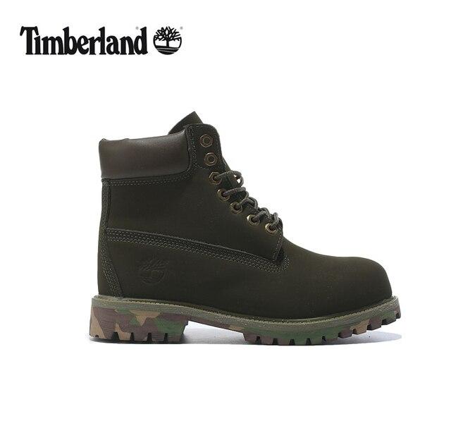 Timberland Pria 10061 Militer Kamuflase Hijau Zaitun Anti-Slip Bawah Martin  Sepatu Bot pria Kulit b7c78229a5