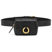 Модные дизайнерские Поясные Сумки поясная сумка для женщин из высококачественной кожи под змеиную кожу дамские поясные сумки Сумка для телефона удобная сумка