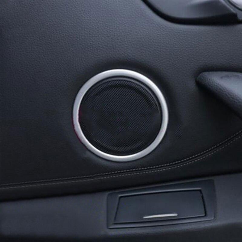 Car Interior Door Audio Speaker Circle Cover Trim Speaker Round Sticker For BMW X1 F48 2016 2017 Auto Accessories