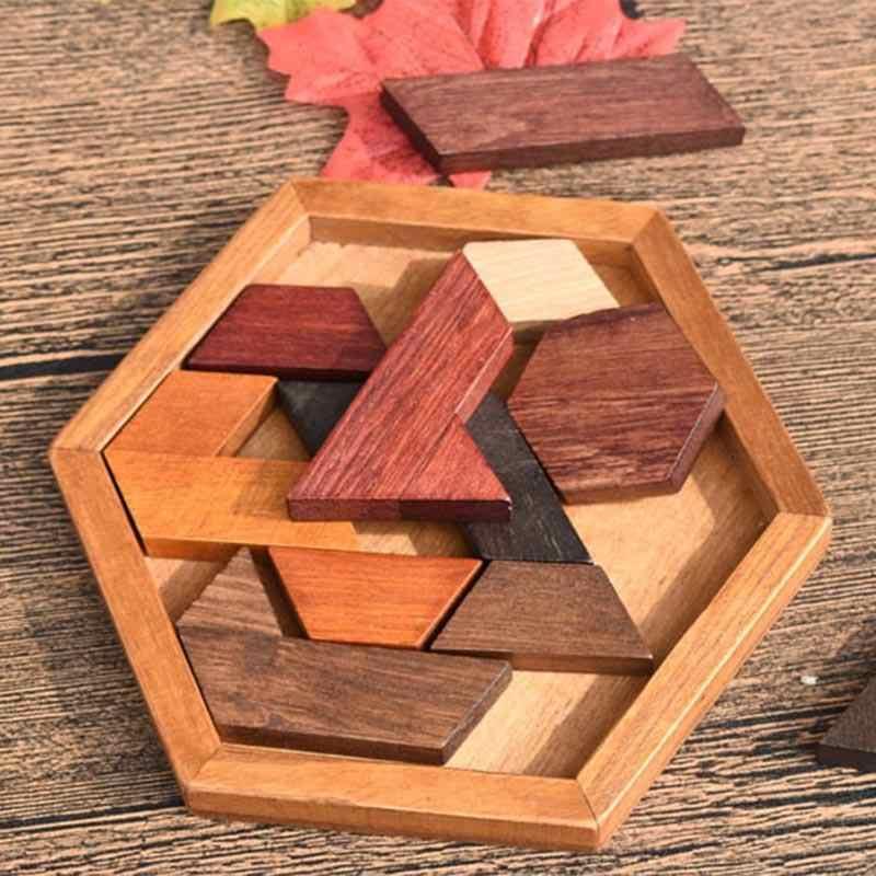 Деревянные пазлы, игрушки, паззл, доска геометрической формы, обучающая игрушка для детей, головоломка, нетоксичное дерево, подарок для детей
