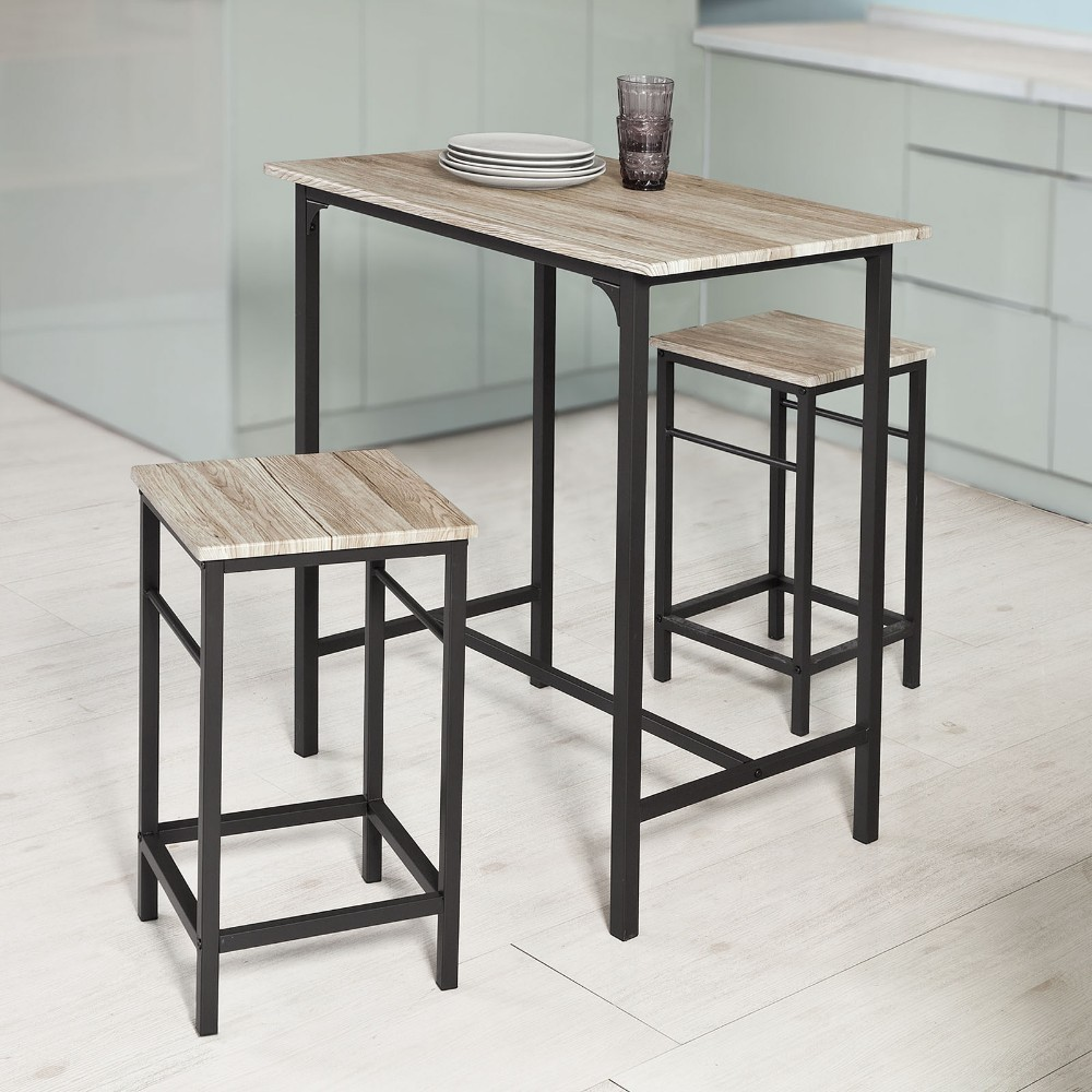 SoBuy OGT10-N Wooden Bar Set-1 Table and 2 Stools Home Kitchen Breakfast Furniture Dining SetSoBuy OGT10-N Wooden Bar Set-1 Table and 2 Stools Home Kitchen Breakfast Furniture Dining Set