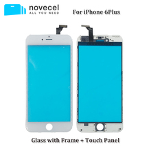Novecel Replacement Front Glass Lens Touch Screen Digitizer For iPhone 5 5s 5c 6 plus Panel Sensor