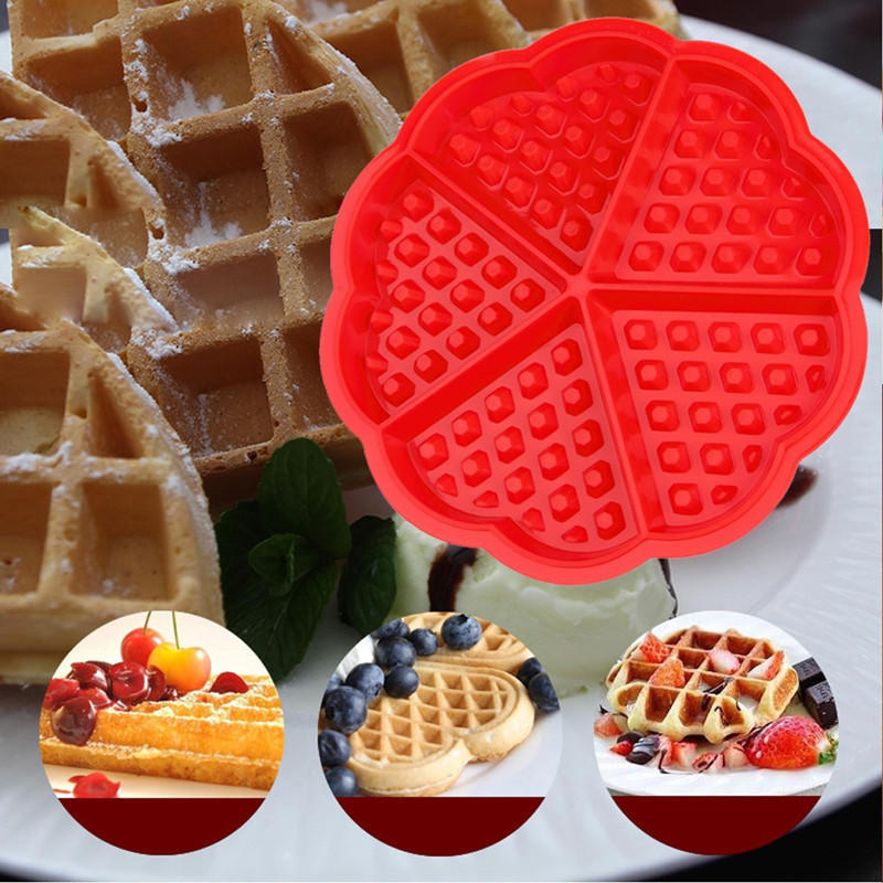 New Hot Non-stick Food Grade Silicone Waffle Mold Kitchen Bakeware Cake Mould Makers For Roaster Cake Decorating Tools Mold